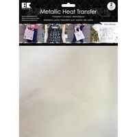 Metallic Heat Transfer Sheets 2pc Silver