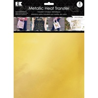 Metallic Heat Transfer Sheets 2pc Gold