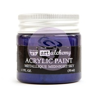 Prima Art Alchemy Acrylic Paint Metallique Midnight Sky 1.7oz by Finnabir