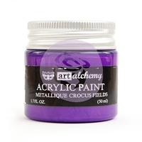 Prima Art Alchemy Acrylic Paint Metallique Crocus 1.7oz by Finnabair