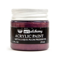 Prima Art Alchemy Acrylic Paint Metallique Plum Preserves 1.7oz by Finnabair