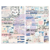 Prima Santorini Stickers Quote & Word 55pc