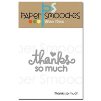Paper Smooches Die Thanks So Much