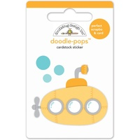 Doodlebug DoodlePops 3D Stickers Anchors Away Yellow Submarine