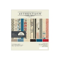 "Authentique 6x6"" Double Sided Cardstock Pad Abroad 24pg"