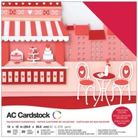 "American Crafts 12x12"" Cardstock Pack Valentines 60pg"