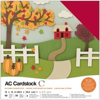 "American Crafts 12x12"" Cardstock Pack Autumn 60pg"