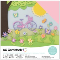 "American Crafts 12x12"" Cardstock Pack Spring 60pg"