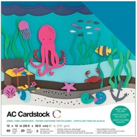 "American Crafts 12x12"" Cardstock Pack Jewel 60pg"