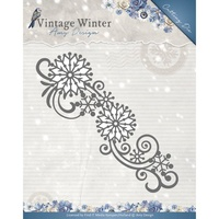 Find It Trading Vintage Winter Die Snowflake Swirl Border by Amy Design