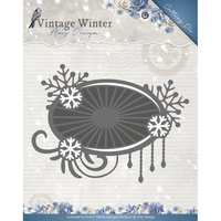 Find It Trading Vintage Winter Die Snowflake Swirl Label by Amy Design