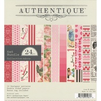 "Authentique 6x6"" Double Sided Cardstock Pad Adore 24pg"