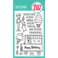 Avery Elle Clear Stamp & Die Bundle The Scoop