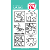 Avery Elle Clear Stamp & Die Bundle Holiday Glass