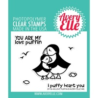 Avery Elle Clear Stamp & Die Bundle Love Puffin