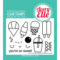 "Avery Elle Clear Stamp Set 4x3"" Cool Treats"