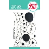 Avery Elle Clear Stamp Set Balloons & Banners