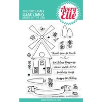 Avery Elle Clear Stamp Set Windmill