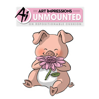 Art Impressions Stamp Penny the Pig