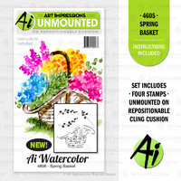 Art Impressions Stamp Watercolours Spring Basket
