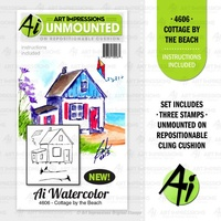 Art Impressions Stamp Watercolours Cottage by the Beach
