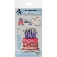 Art Impressions Stamp Mini Spinners Cake Set Includes Die