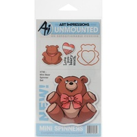 Art Impressions Stamp Mini Spinner Bear Set Include Die