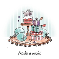 Art Impressions Stamp Cottage Make a Wish Set