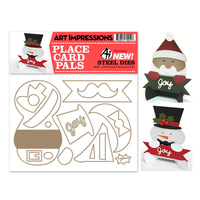 Art Impressions Die Christmas Placecards Set 18pc