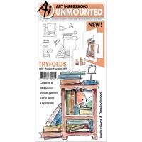 Art Impressions Stamp Mini Tryfold Pamper Your-Shelf