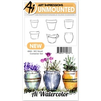 Art Impressions Watercolours Stamp Small Container Set