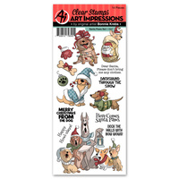 Art Impressions Stamp Santa Paws Set
