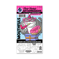 Art Impressions Mouthful Stamp & Die Set Cat