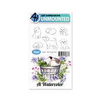 Art Impressions Watercolours Stamp Set Dogs