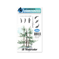 Art Impressions Watercolours Stamp Set Fir Trees