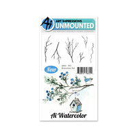 Art Impressions Watercolours Stamp Set Branches
