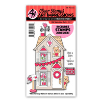 Art Impressions Holiday Mansion Stamp & Die Set Valentine