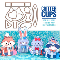 Art Impressions Critter Cups Stamp & Die Set