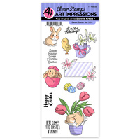 Art Impressions Easter Clear Stamp Set Sweet Easter