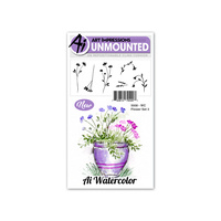 Art Impressions Watercolours Stamp Set Flowers #3