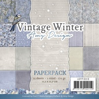 "Find It Trading Vintage Winter 6x6"" Paper Pad by Amy Design 24pg"