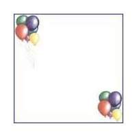 Print Blocks Paper Balloon Bunches On White