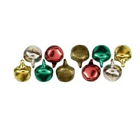 BELL CHARMS RED GREEN GOLD TIS THE SEASON