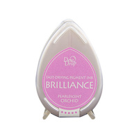 Tsukineko Brilliance Dew Drop Pigment Ink Pad Pearlescent Orchid