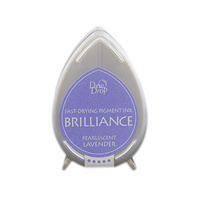 Tsukineko Brilliance Dew Drop Pigment Ink Pad Pearlescent Lavender