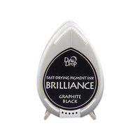 Tsukineko Brilliance Dew Drop Pigment Ink Pad Graphite Black