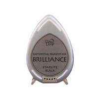 Tsukineko Brilliance Dew Drop Pigment Ink Pad Starlite Black