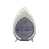 Tsukineko Brilliance Dew Drop Pigment Ink Pad Starlite Silver