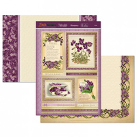 Hunkydory Birth Flowers Card Topper Set February Violet