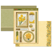 Hunkydory Birth Flowers Card Topper Set March Daffodil